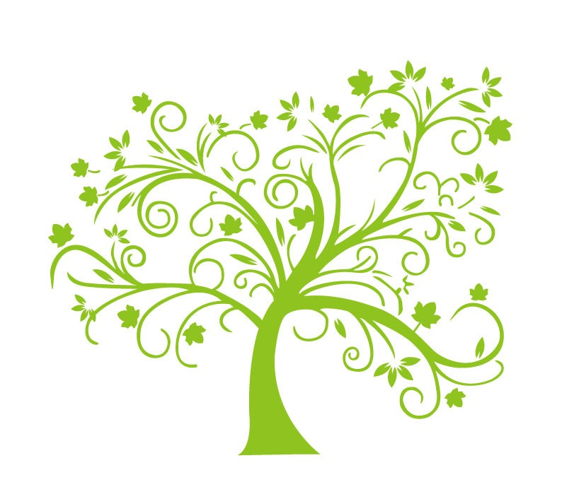 abstract green tree vector