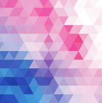 Vector Abstract Multicolored Triangular Mosaic Background ...