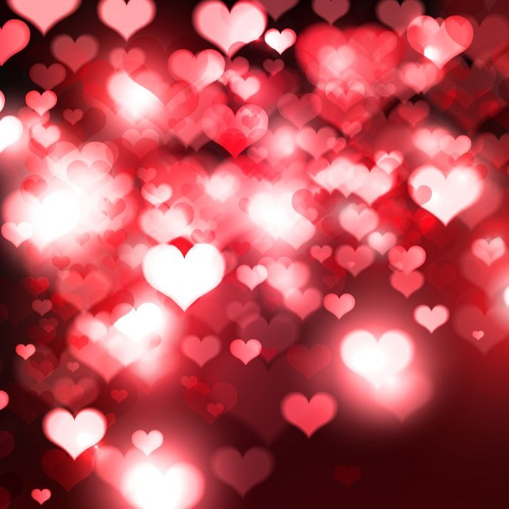 Hearts Bokeh Light Valentines Day Background  Free