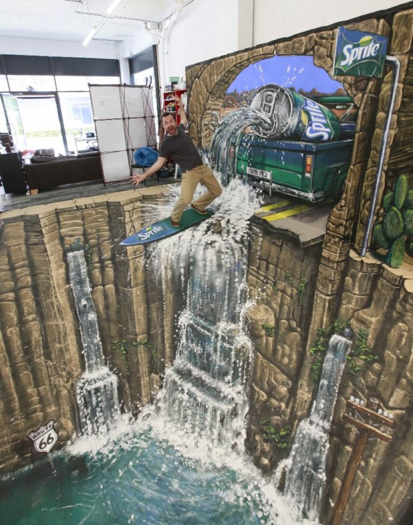 Stunning Optical Illusions Created Street Chalk Artists - Website Design Inspiration Web