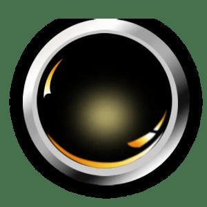 Round Black Orange Widget