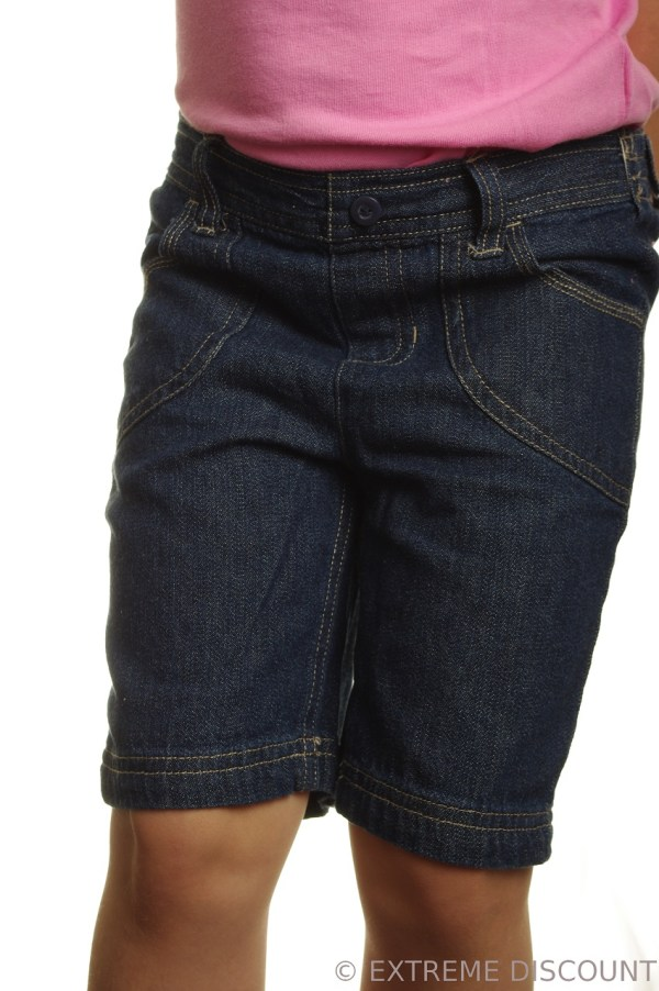 Elastic Waist Blue Jean Shorts for Men