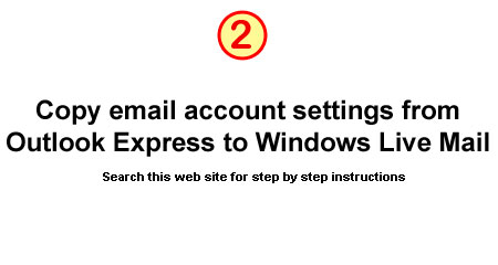 How to copy email from Outlook Express to Windows Live