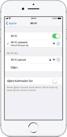 iphone wifi güvenlik önerisi sorunu