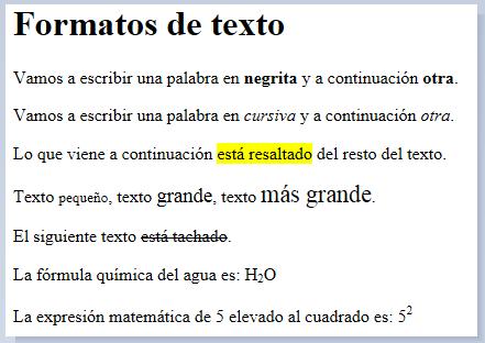 fromatos HTML