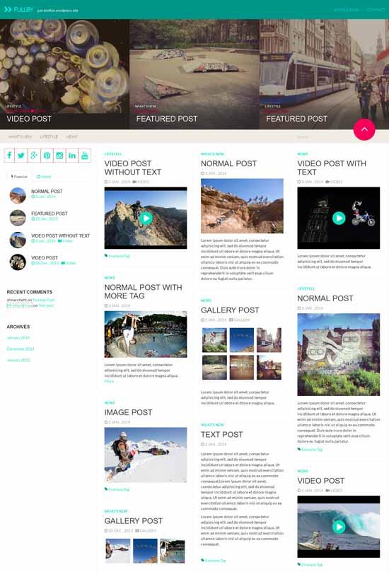 Fullby - Temas WordPress basado en Bootstrap
