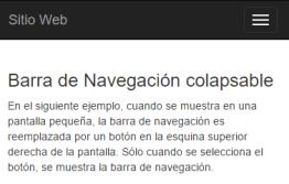Barra de navegación colapsable