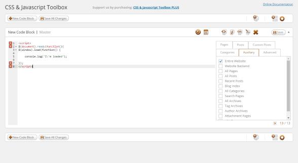 Añadir JS a WordPrees con CJT