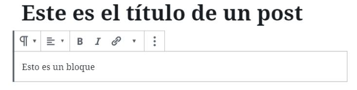 Editor de bloques de WordPress
