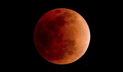 Lune rouge sang (Photo AFP - NICOLAS ASFOURI)