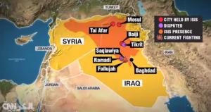 Carte de l'expansion de Daech-Al Arabiya