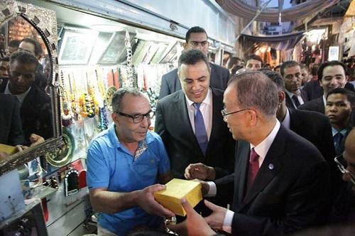 SG ONU - commerçants de la medina (credit photo page facebook gouvernement) 2