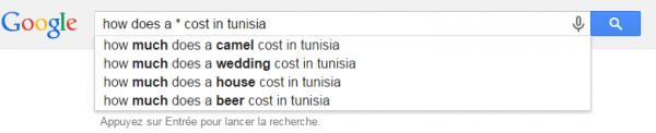 Combien coûte ... en Tunisie | Google