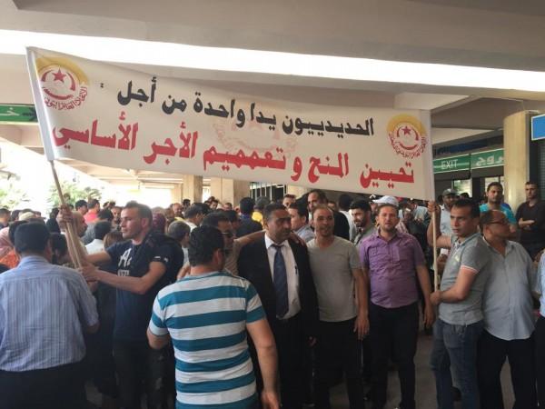Grève des agents de la SNCFT | Photo : Mohamed Ali Sghaier