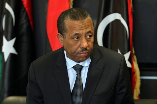 Le premier ministre libyen du gouvernement de Tobrouk Abdullah al-Thinni