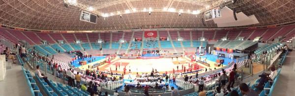 Une salle de Rades désertée par le public #AfroBasket2015