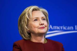 """23 Mar 2015, Washington, DC, USA --- Former U.S. Secretary of State Hillary Clinton takes part in a Center for American Progress roundtable discussion on """"Expanding Opportunities in America's Urban Areas"""" in Washington. --- Image by © Brooks Kraft/Corbis"""