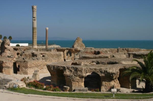 Thermes d'antonin à Carthage
