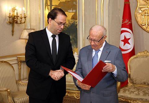 Youssef Chahed présente la composition de son gouvernement à Béji Caid Essebsi
