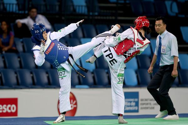 Rahma Ben Ali, en bleu (Taekwondo)