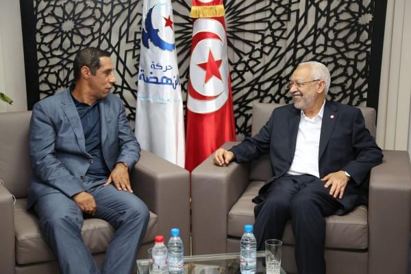 Zied Tlemçani accueilli par Rached Ghannouchi