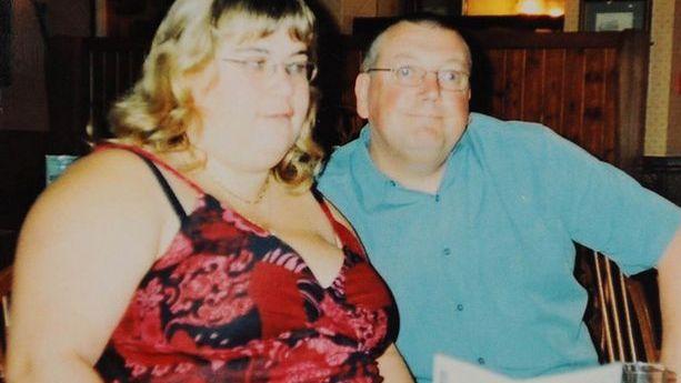 Allison Heathcote avec son mari.