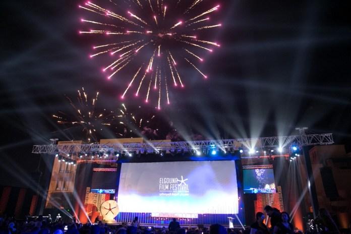 Feu d'artifice à la cérémonie d'ouverture du Festival du Film d'El Gouna