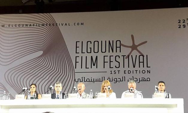 Conférence de presse précédant le festival du film d'El Gouna