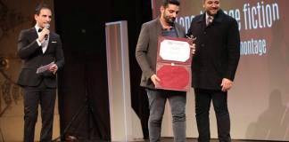 Mahmoud Kamel lors des JCC 2017 remet le prix de Meilleur montage