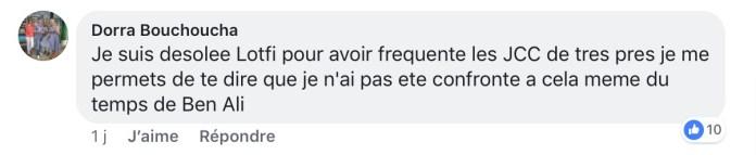 Réponse de Dorra Bouchoucha