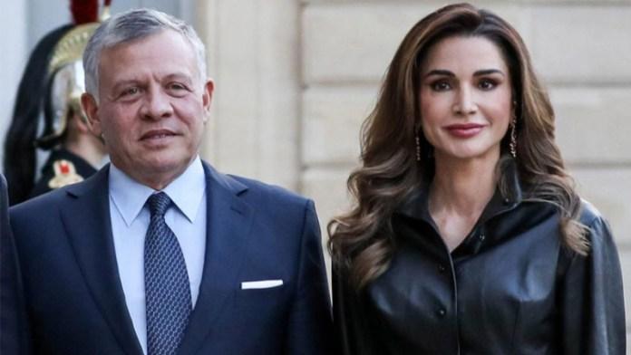 Le Roi Abddallah De Jordanie Et La Reine Rania A Tunis