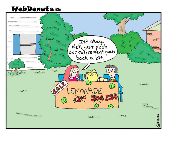 retirement cartoon webdonuts webcomics
