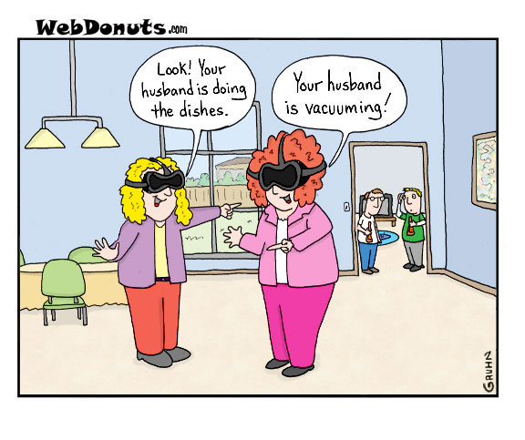 Image result for virtual reality cartoon