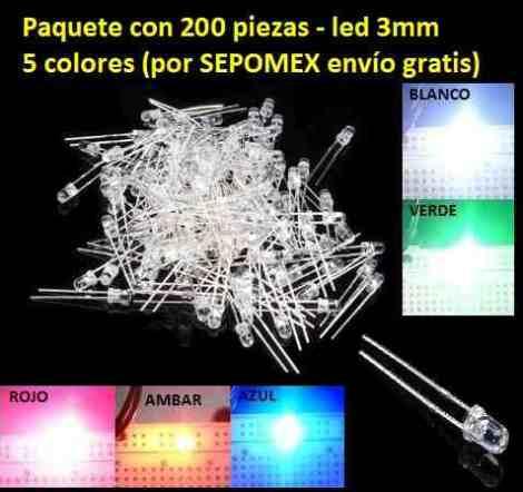 Image un-paquete-de-200-piezas-led-3mm-en-5-colores-376501-MLM20344179397_072015-O.jpg