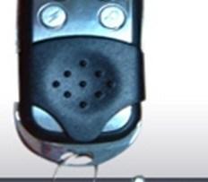 Control Remoto Inalámbrico Para Alarmas Cromado De Lujo