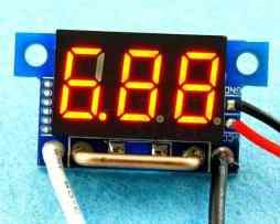 Panel Amperímetro Digital De 0.36   De 0~10a Dc Rojo