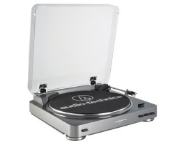 Tornamesa Audio-technica At-lp60 Automatica Estereo - Gris
