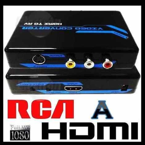 A15 Convertidor De Rca Y S-video A Hdmi Dvd Vhs Camara Hdtv