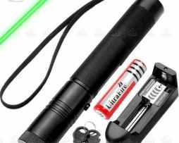Apuntador Láser Verde De 10000mw Recargable Prende Cerillos