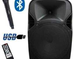 Bafle Bocina Amplificada Con Bluetooth Recargable C/ Micro