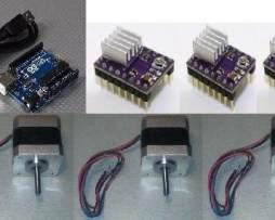 Kit Mini Cnc Con Drives Drv8825 3 Nema 17 Y Arduino Uno Grbl