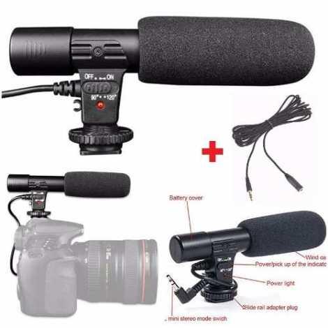 Microfono Estereo Profesional Para Camara De Video O Foto
