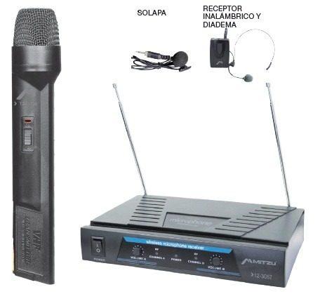 Microfonos Inalambricos De Mano Solapa Y Diadema Hasta 50m