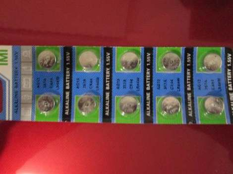 Paquete 10 Baterias Alcalinas Pilas Boton Ag13 / 357 / Lr44