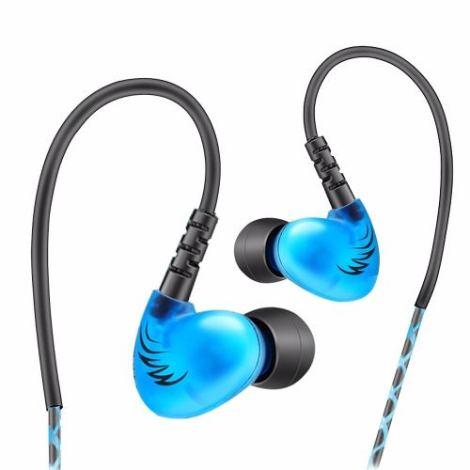 Audífonos Monitor Personal In Ear Qkz S6 Azul en Web Electro