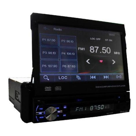 Autoestereo 1 Din Pantalla 7  Bluetooth Usb Sd Touch en Web Electro
