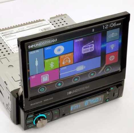 Autoestereo  Touch  Motorizada 7  Bluetooth Sd Usb Camaleon