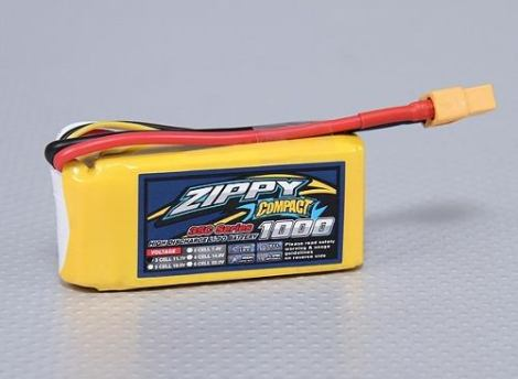 Bateria Lipo 1000mah 11.1v 3s Recargable 35c Zippy Compact en Web Electro