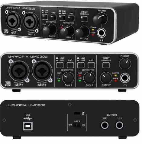 Behringer Umc202 Hd Interfaz De Audio 2×2 24 Bits en Web Electro