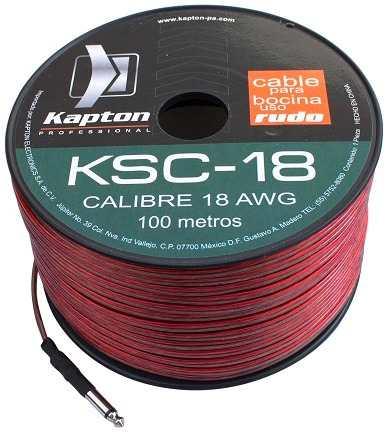 Cable Para Bocina Uso Rudo Polarizado Calibre 18 100 Mts en Web Electro